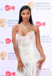 Maya Jama attending the Virgin Media BAFTA TV awards, held at the Royal Festival Hall in London. Photo credit should read: Doug Peters/EMPICS