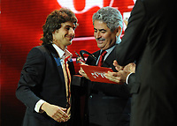 20120227: LISBON, PORTUGAL - SL Benfica 108th anniversary gala at Coliseu dos Recreios in Lisbon, Portugal.<br /> In photo: Pablo Aimar and Luis Filipe Vieira.<br /> PHOTO: Alvaro Isidoro/CITYFILES