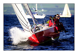 Yachting- The start of the Bell Lawrie Scottish series 2002 at Gourock racing overnight to Tarbert Loch Fyne where racing continues over the weekend.<br /><br />Impala Scoundrel GBR9510 Class 6<br />Pics Marc Turner / PFM