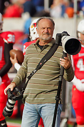 NORMAL, IL - October 13: Dennis Banks during a college football game between the ISU (Illinois State University) Redbirds and the Southern Illinois Salukis on October 13 2018 at Hancock Stadium in Normal, IL. (Photo by Alan Look)