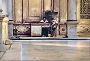 Egypte, Egypt, Cairo, 15-10-1980 Straatbeeld. Sultan Muhammed, Mohammed, Ali moskee, een van de oudste gebouwd op de citadel .Foto: Flip Franssen