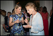 LADY KINVARA BALFOUR; PRINCESS MICHAEL OF KENT, Cartier dinner in celebration of the Chelsea Flower Show. The Palm Court at the Hurlingham Club, London. 19 May 2014.