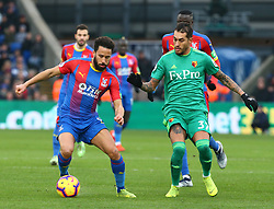January 12, 2019 - London, England, United Kingdom - London, England - 12 January, 2019.L-R Crystal Palace's Andros Townsend and Watford's Roberto Pereyra.during English Premier League between Crystal Palace and Watford at Selhurst Park stadium , London, England on 12 Jan 2019. (Credit Image: © Action Foto Sport/NurPhoto via ZUMA Press)