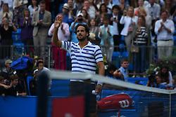 June 24, 2017 - London, United Kingdom - Feliciano Lopez of Spain celebrates after winning the semi final of AEGON Championships at Queen's Club, London, on June 24, 2017. (Credit Image: © Alberto Pezzali/NurPhoto via ZUMA Press)