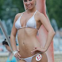 Petra Viktoria Ihasz attends the Miss Bikini Hungary beauty contest held in Budapest, Hungary on August 06, 2011. ATTILA VOLGYI