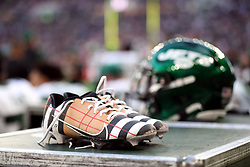 A players custom boots during the match which is part of the NFL London Games at Tottenham Hotspur Stadium, London. Picture date: Sunday October 10, 2021.