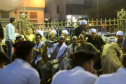 April 25, 2017 - Cairo, Egypt - People celebrate during an annual Al-Sayeda Zeinab Mawlid celebration in Cairo, Egypt 25 April 2017. Mawlid, meaning birthday in Arabic, is a celebration of a holy person. It is celebrated by Muslims and Christians in Egypt to honor their Saints. Although most Mawlids are Muslim, some Coptic Saints are also honored in similar celebrations. (Credit Image: © Fayed El-Geziry/NurPhoto via ZUMA Press)
