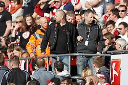 08.03.2015, RheinEnergieStadion, Köln, GER, 1. FBL, 1. FC Köln vs Eintracht Frankfurt, 24. Runde, im Bild Ordner fuehren einen FC Fan ab // during the German Bundesliga 24th round match between 1. FC Cologne and Eintracht Frankfurt at the RheinEnergieStadion in Köln, Germany on 2015/03/08. EXPA Pictures © 2015, PhotoCredit: EXPA/ Eibner-Pressefoto/ Schueler<br /> <br /> *****ATTENTION - OUT of GER*****