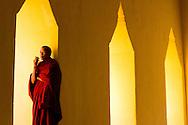 Monk at the Pagoda Festival in Bagan, Myanmar (Burma).