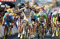 Sykkel<br /> Tour de France 2010<br /> 08.07.2010<br /> Foto: PhotoNews/Digitalsport<br /> NORWAY ONLY<br /> <br /> MARK CAVENDISH<br /> <br /> ETAPE 5 : EPERNAY - MONTARGIS