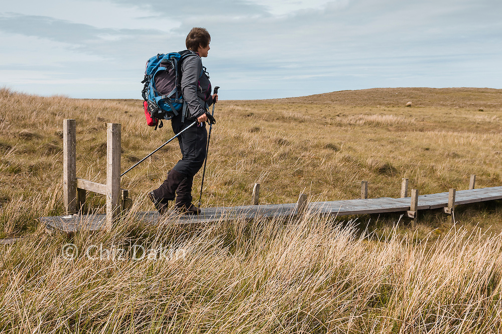 Boardwalk eases the way over short boggy sections on the N Barrule ridge