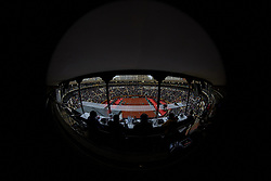 April 7, 2018 - Valencia, Valencia, Spain - General view during the doubles match between Feliciano Lopez and Marc Lopez of Spain against Tim Putz and Jan-Lennard Struff of Germany during day two of the Davis Cup World Group Quarter Finals match between Spain and Germany at Plaza de Toros de Valencia on April 7, 2018 in Valencia, Spain  (Credit Image: © David Aliaga/NurPhoto via ZUMA Press)