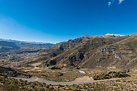 aerial view of Chivay in the peruvian Andes at Arequipa Peru