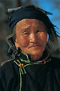 Darkhad woman<br /> near Lake Hovsgol<br /> Northern Mongolia