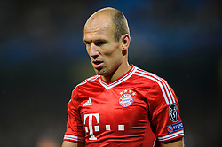Bayern Forward Arjen Robben (NED) looks on during the second half of the match - Photo mandatory by-line: Rogan Thomson/JMP - Tel: Mobile: 07966 386802 - 02/10/2013 - SPORT - FOOTBALL - Etihad Stadium, Manchester - Manchester City v Bayern Munich - UEFA Champions League Group D.