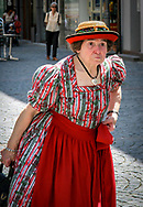 Munich resident dressed in Sunday best. Photo taken June 23, 2007.