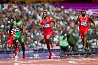 LONDON OLYMPIC GAMES 2012 - OLYMPIC STADIUM , LONDON (ENG) - 04/08/2012 - PHOTO : VINCENT CURUTCHET / KMSP / DPPI<br /> ATHLETICS - 100M - HEAT - TYSON GAY (USA)