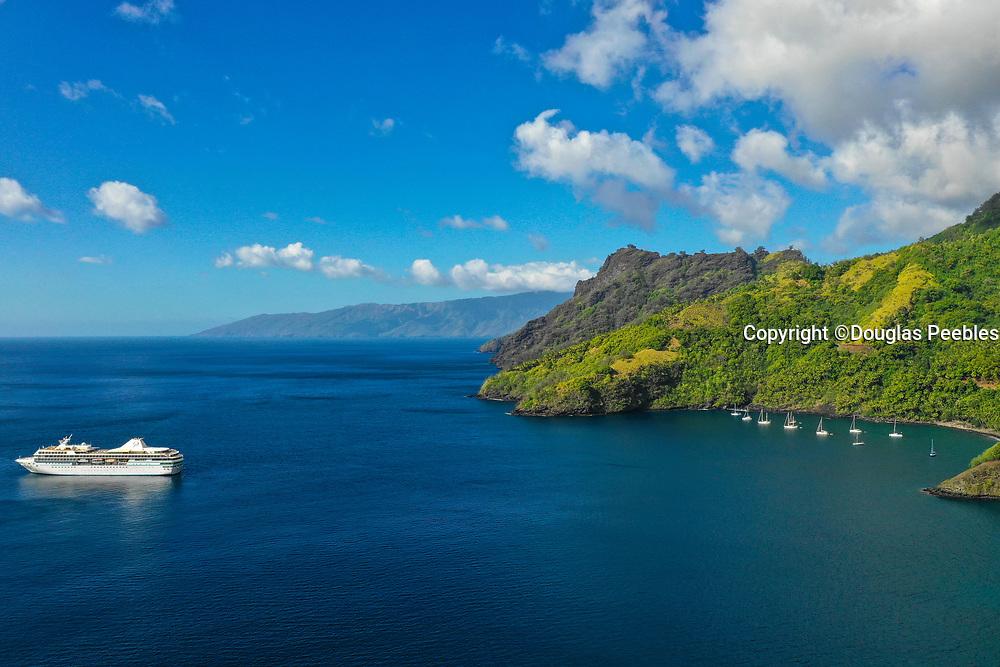 Paul Gauguin Cruise Ship, Hapatoni, Tahuata, Marquesas; French Polynesia; South Pacific