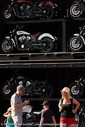 Indian Motorcycles downtown display during the 78th annual Sturgis Motorcycle Rally. Sturgis, SD. USA. Saturday August 11, 2018. Photography ©2018 Michael Lichter.