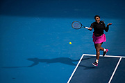 Serena Williams of the U.S. in action against Australia's Daria Gavrilova during a Yarra Valley Classic match before the 2021 Australian Open at Melbourne Park in Melbourne, Australia.