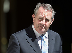 © Licensed to London News Pictures. 19/07/2016. London, UK. Liam Fox MP, Secretary of State for International Trade and President of the Board of Trade, leaves Downing Street after attending Prime Minister Theresa May's first cabinet.  Photo credit: Peter Macdiarmid/LNP