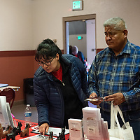 Stanley King and his wife Georgia King visit the 7th Annual Veterans Stand Down and Hand-Up Project at Red Rock Park on November 1, 2019, from Farmington, NM. King and his wife wanted to see how this event differece from the stand down in Farmington.