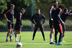 13 September 2017 -  UEFA Europa League (Group H) - Arsenal Training - Alexis Sanchez of Arsenal looks on at his team mates - Photo: Marc Atkins/Offside