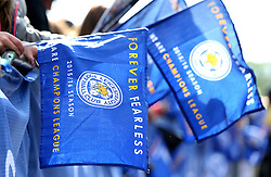 Leicester City Champions flags - Mandatory by-line: Robbie Stephenson/JMP - 16/05/2016 - FOOTBALL - Leicester City FC, Barclays Premier League Winners 2016 - Leicester City Victory Parade