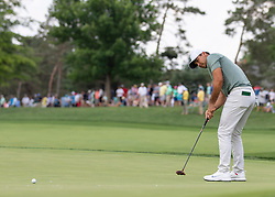 May 31, 2018 - Dublin, OH, U.S. - DUBLIN, OH - MAY 31: Jason Day putting during the first round of the Memorial Tournament at Muirfield Village Golf Club in Dublin, Ohio on May 31, 2018.(Photo by Jason Mowry/Icon Sportswire) (Credit Image: © Jason Mowry/Icon SMI via ZUMA Press)