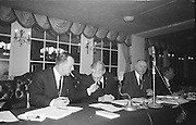 Alf Murray (Armagh) (right) President of GAA relaxes and shares a light with the Secretary of the GAA Sean O'Siochain, during a lull in the proceedings at the Annual Congress of the GAA held in the Gresham Hotel, Dublin on Easter Sunday...Annual Congress, GAA. 18.4.1965.  18th April 1965