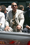 Orlando Cepada at the Major League Baseball All-Stars and 49 Hall of Famers ride up Sixth Avenue in All Star-Game Red Carpet Parade Presented by Chevy on July 15, 2008