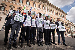 May 4, 2017 - Rome, Italy, Italy - Matteo Salvini during the sit-in at Piazza Montecitorio parliamentary of the Lega Nord against the law self-defense. (Credit Image: © Andrea Ronchini/Pacific Press via ZUMA Wire)