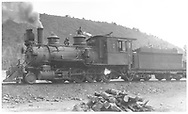 """RGS 2-8-0 #15 in Dolores, CO.<br /> RGS  Dolores, CO  Taken by Perry, Otto C. - 5/30/1923<br /> In book """"Rio Grande Southern, The: An Ultimate Pictorial Study"""" page 186<br /> Also in """"Silver San Juan"""", p. 593 and """"RGS Story Vol. VII"""", p. 92."""