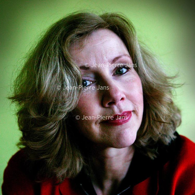 """Nederland. Amsterdam.21 februari 2004..Marieke van de Pol, scenarioschrijfster van o.a. de film """"de Tweeling""""."""