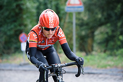 Sofie de Vuyst looks to bridge to the front group - Le Samyn des Dames 2016, a 113km road race from Quaregnon to Dour, on March 2, 2016 in Hainaut, Belgium.