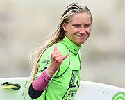 Ava Henderson.<br /> Finals of the Surfing New Zealand National Championships 2021. Piha Beach, Auckland, New Zealand. Saturday 16 January 2021.<br /> © image by Andrew Cornaga / www.Photosport.nz