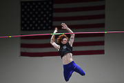 Carson Waters places third in the elite men's competition at 18-8 1/4 (5.70m) during the National Pole Vault Summit, Friday, Jan. 17, 2020, in Reno, Nev.