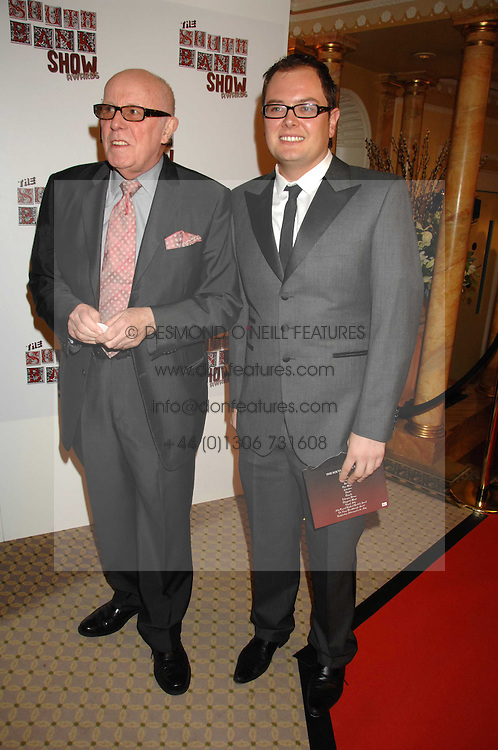 Left to right, RICHARD WILSON and ALAN CARR at the South Bank Show Awards held at The Dorchester, Park Lane, London on 29th January 2008.<br />