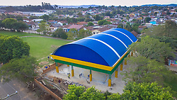 """8™ CRE ñ ESC. EST. EDUC. BAS. AUGUSTO RUSCHI, em Santa Maria. ConstruÁ""""o de quadra esportiva coberta. R$ 479 mil. FOTO: Jefferson Bernardes/ AgÍncia Preview"""