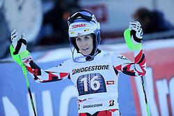 29.12.2015, Hochstein, Lienz, AUT, FIS Weltcup Ski Alpin, Lienz, Slalom, Damen, 2. Durchgang, im Bild Eva-Maria Brem (AUT) // Eva-Maria Brem of Austria reacts after 2nd run of ladies Slalom of the Lienz FIS Ski Alpine World Cup at the Hochstein in Lienz, Austria on 2015/12/29. EXPA Pictures © 2015, PhotoCredit: EXPA/ Erich Spiess