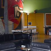 Paris, France,  2004: Interior view of Pavillon Suisse - Hall -  (1930-1933), at Citè Universitaire in boulevard Jourdan 7, Paris, france - Le Corbusier arch - . Photographs by Alejandro Sala