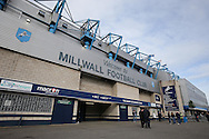 a General view of outside The Den Stadium before k/o. Skybet football league one play off semi final 2nd leg match, Millwall v Bradford city at The New Den in London on Friday 20th May 2016.<br /> pic by John Patrick Fletcher, Andrew Orchard sports photography.