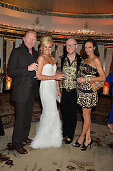 Left to right, BORIS BECKER, CLAIRE CAUDWELL, JOHN CAUDWELL and LILLY BECKER at a birthday dinner for Claire Caudwell for family & friends held at The Dorchester, Park Lane, London on 24th January 2014.