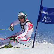 Vincent Kriechmayr, Austria, in action during the Men's Giant Slalom competition at Coronet Peak, New Zealand during the Winter Games. Queenstown, New Zealand, 22nd August 2011. Photo Tim Clayton