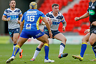 Featherstone Rovers interchange Brad Knowles (21) in action  during the Challenge Cup 2018 match between Doncaster and Featherstone Rovers at the Keepmoat Stadium, Doncaster, England on 22 April 2018. Picture by Simon Davies.