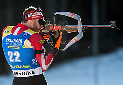Simon Eder (AUT) in action during the Men 10km Sprint at day 6 of IBU Biathlon World Cup 2018/19 Pokljuka, on December 7, 2018 in Rudno polje, Pokljuka, Pokljuka, Slovenia. Photo by Vid Ponikvar / Sportida