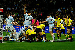 January 8, 2018 - Nanterre, Hauts de Seine, France - Racing Metro 92 Flanker LEONE NAKARAWA score the first try  during the French rugby championship Top 14 match between Racing Metro 92 and Clermont at U Arena Stadium in Nanterre - France.Racing won 58-6 (Credit Image: © Pierre Stevenin via ZUMA Wire)