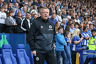Sheffield United manager Chris Wilder during the EFL Sky Bet Championship match between Sheffield Wednesday and Sheffield Utd at Hillsborough, Sheffield, England on 24 September 2017. Photo by Phil Duncan.