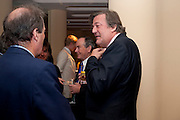 STEPHEN FRY, Graydon Carter hosts a dinner to celebrate the reopening og the American Bar at the Savoy.  Savoy Hotel, Strand. London. 28 October 2010. -DO NOT ARCHIVE-© Copyright Photograph by Dafydd Jones. 248 Clapham Rd. London SW9 0PZ. Tel 0207 820 0771. www.dafjones.com.