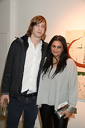 PRINCE ALEXANDER VON PREUSSEN and KIRAN SHARMA the manager of singer Prince at a private view of an exhibition of paintings by Billy Zane entitled 'Save The Day Bed' held at the Rook & Raven Gallery, Rathbone Place, London on 10th October 2013.